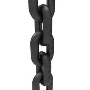 ICE-Round steel chain - Black phosphated